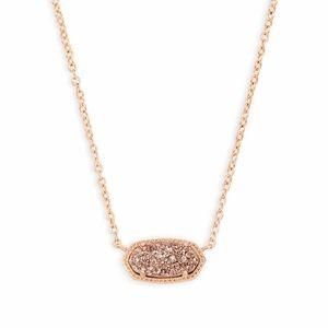 NWT Kendra Scott Elisa Rose Gold Pendant Necklace